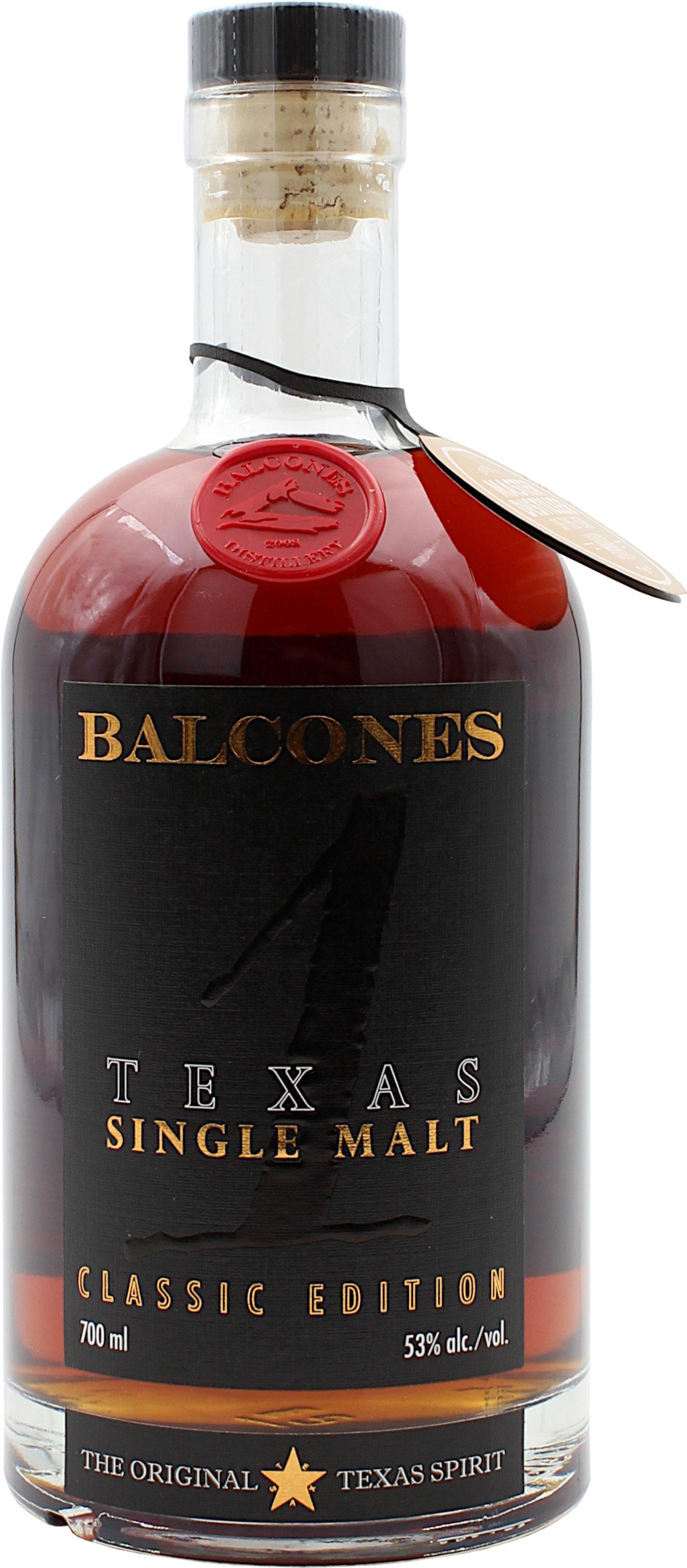 Balcones Texas Single Malt Classic Edition 53.0% 0,7l